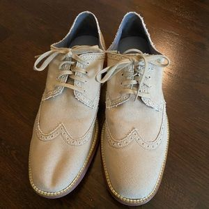 Mens Cole Haan Tan wing tip Grand Os oxfords 9.5